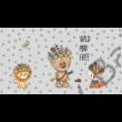 Berry Baby DIAMOND szivacs kanapéágy és hempergő, gyerek méretben:  Grafit - Wild and Free