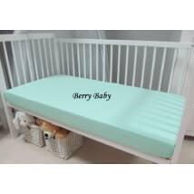 Berry Baby pamut gumis lepedő 60x120 cm: menta