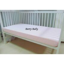 Berry Baby pamut gumis lepedő 60x120 cm: babarózsaszín