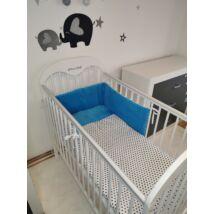 Berry Baby Selymes türkiz színű minky+ kék csillagos babaágynemű szett (BŐVÍTHETŐ)