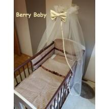 Babaágynemű Berry Baby-3 részes (bővíthető): Barna csillagos