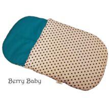 Berry Baby Babazsák: fehér alapon kék csillagos+türkiz 0-3 hó