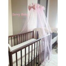 Berry Baby muszlin baldachin függöny RÓZSASZÍN- klasszikus méretben