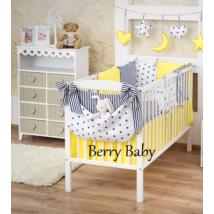 Berry Baby Luxus babaágynemű szett- Citron