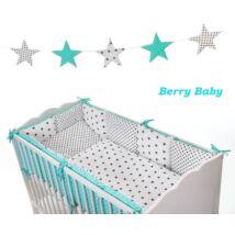 """Berry Baby Luxus babaágynemű szett- """"Black dots- blue stars"""""""