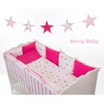 "Berry Baby Luxus babaágynemű szett- ""Pink star 2"""
