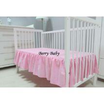 Berry Baby Fodros Pamut lepedő 60x120 cm-es kiságyba: Rózsaszín
