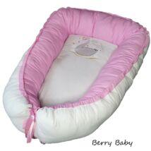 Berry Baby PRÉMIUM Babafészek kókusz matraccal:  SWAN- hímzett hattyú