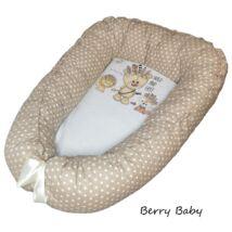 Berry Baby Prémium Babafészek kókusz matraccal: Wild and Free-barna csillagos