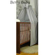 Berry Baby Pamut baldachin függöny: szürke apró pöttyös