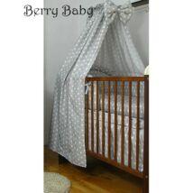 Berry Baby Pamut baldachin függöny: szürke alapon nagy csillagos