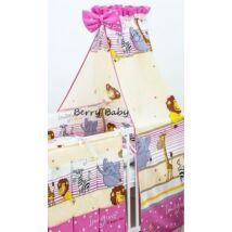 Berry Baby Pamut baldachin függöny: rózsaszín szafari