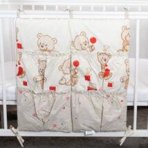 Berry Baby 4 zsebes pelenkatároló kiságyra: bézs macis