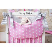 Berry Baby Smile pelenka tároló rendező kiságyra- rózsaszín pöttyös