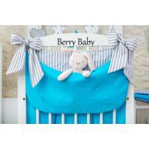 Berry Baby Smile pelenka tároló rendező kiságyra- türkiz