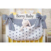Berry Baby Smile pelenka tároló rendező kiságyra- kék csillag