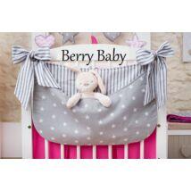 Berry Baby Smile pelenka tároló rendező kiságyra-- szürke csillag