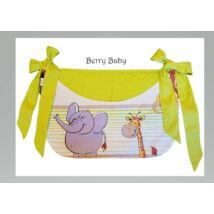 Berry Baby Smile pelenka tároló rendező kiságyra- zöld szafari+kiwi pöttyös