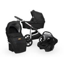 Berry Baby DIMATEO ALU 3in1 babakocsi szett (autós hordozóval és adapterrel!): fekete