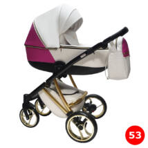 Berry Baby- Sojan AGIX multifunkciós babakocsi szett: White and Rose