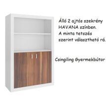Filip 2 ajtós álló szekrény Havana-10 választható mintával
