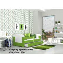 Leesésgátlós FILIP COLOR gyermekágy - 3 méretben: zöld