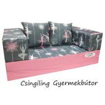 Berry Baby DIAMOND szivacs kanapéágy és hempergő, gyerek méretben:  Eper - Wonderful Balerina