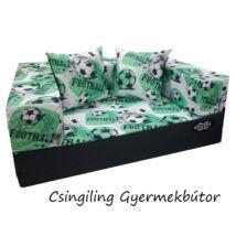 Berry Baby DIAMOND szivacs kanapéágy és hempergő, felnőtt méretben:  Grafit - Football