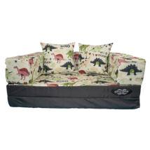 Berry Baby DIAMOND szivacs kanapéágy és hempergő, gyerek méretben: Grafit - Dino