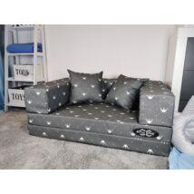 Berry Baby DIAMOND szivacs kanapéágy és hempergő, felnőtt méretben:  Szürke Chesterfield