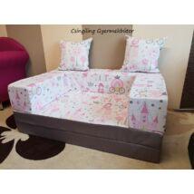 Berry Baby SUNSHINE szivacs kanapéágy és hempergő, gyerek méretben: Szürke - Little Princess