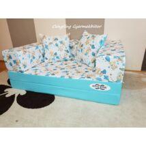Berry Baby SUNSHINE szivacs kanapéágy és hempergő, felnőtt méretben:  Türkizkék - kék macis
