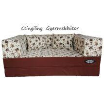 Berry Baby WEXTRA szivacs kanapéágy és hempergő, gyerek méretben: Csoki - barna baglyos