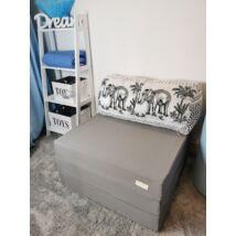 Berry Baby kihajtható szivacs pótágy/fotelágy ifjúsági méretben: Szürke - 13 választható párnával