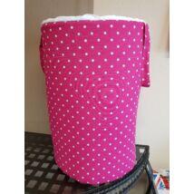 Berry Baby Szennyestartó/ játéktároló babaszobába: Pink pöttyös