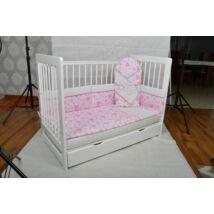Baba- Mama ágy (babaöböl)+ ÁGYNEMŰTARTÓ -Kiságy Tomi XXI- hófehér