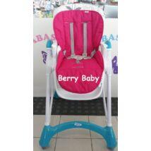 Berry Baby Pamut etetőszék huzat: pink