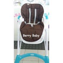 Berry Baby Pamut etetőszék huzat: csoki