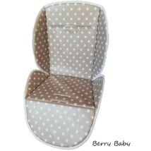 Berry Baby PVC etetőszék huzat: szürke csillagos