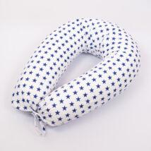 Berry Baby Klasszikus Szoptatós párna: fehér alapon kék csillagos