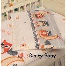 Berry Baby Töltött lepedő szabvány EU bölcsődei és óvodai gyermekágyra: Narancs nagy bagoly