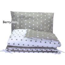Berry Baby huzat szett ovisoknak: Szürke alapon fehér csillagos+ ellentettje