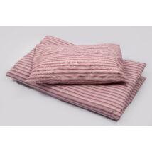 Berry Baby Óvodás paplan-párna szett- 4 évszakos-Rózsaszín csíkos