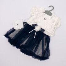 Kislány alkalmi ruha- kb.2 éves babára- sötétkék
