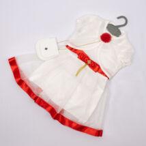 Kislány alkalmi ruha- kb.3 éves babára-piros
