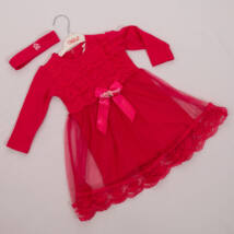 Kislány alkalmi ruha- kb. 1,5 éves gyermekre -hajpánttal