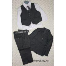 6 részes alkalmi öltöny szett kisfiú- 2 éves -fekete halszálkás