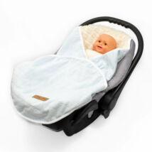 Berry Baby babahordozós takaró: babakék -kék szőrös