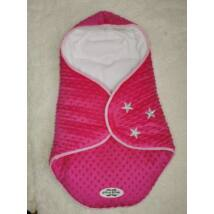 Berry Baby Lovely Stars bundazsák hordozóba: pink minky