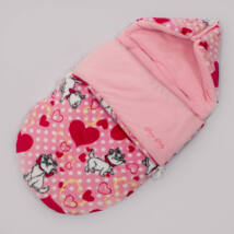 Berry Baby Klasszikus Bundazsák babahordozóba és mózesbe: rózsaszín cicás